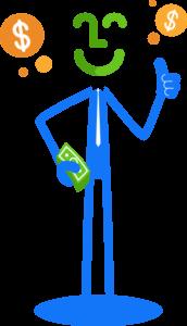 FiWize Auto Loans stickman thumbs up