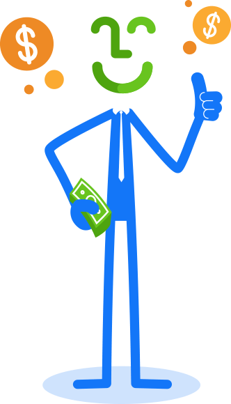 FiWize Auto Loans stickman thumbs up